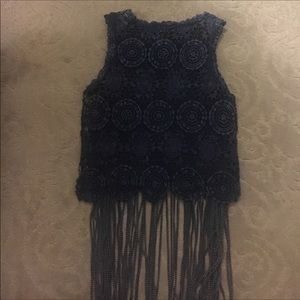 Gimmicks fringe top